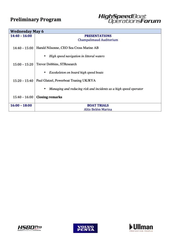 HSBO preliminary progam P 6